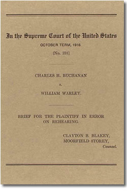 buchanan v warley 1917 - buchanan v warley • us supreme court ruled louisville's residential  segregation ordinance illegal • case brought an end to racial zoning.